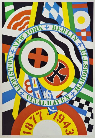 Robert Indiana  Hartley Elergies KVF IV, 1990  Signed and dated on the lower right, numbered on the lower centre  Serigraph in colours, edition of 50  196 x 135 cm - 77.2 x 53.1 in.  Provenance The Morgan Art Foundation