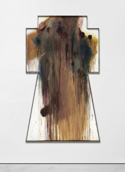 Arnulf Rainer Untitled Oil on wood, 1992  49 1/4 x 79 4/4 in