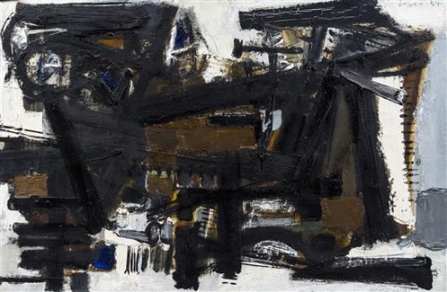 John Harrison Levee Untitled, 1954 oil on canvas signed Levee and dated (upper right);  signed and dated (verso) 45 cm x 71 cm ( 18 x 28 inches).