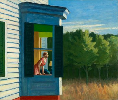 Edward Hopper, Cape Cod Morning, 1950, huile sur toile, 86,7 x 102,3 cm, Smithsonian American Art Museum, Gift of the Sara Roby Foundation; © Heirs of Josephine Hopper / 2019, ProLitteris, Zurich; Photo: Smithsonian American Art Museum, Gene Young