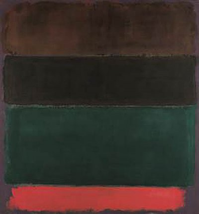 Mark Rothko, Untitled (Red-Brown, Black, Green, Red), 1962, huile sur toile, 206,0 x 193,5 cm, Fondation Beyeler, Riehen/Bâle, Collection Beyeler: © 1998 Kate Rothko Prizel & Christopher Rothko / 2019, ProLitteris, Zurich; Photo: Peter Schibli
