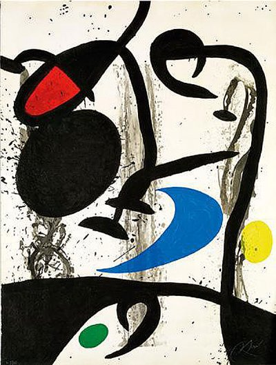 Le Grand triptyque noir, 1969. © Successió Miró, Adagp Paris 2019. Photo Claude Germain / Archives Fondation Maeght.