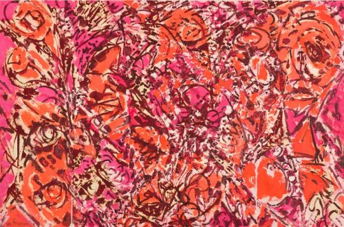 Lee Krasner Icarus, 1964 Oil on canvas 116.8 x 175.3 cm Thomson Family Collection, New York © The Pollock-Krasner Foundation. Courtesy Kasmin Gallery, New York Photograph by Diego Flores.
