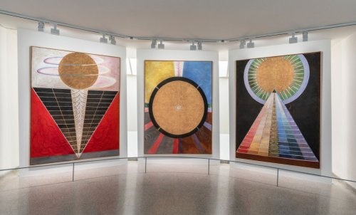 Installation view: Hilma af Klint: Paintings for the Future, Solomon R. Guggenheim Museum, New York, October 12, 2018–February 3, 2019. Photo: David Heald