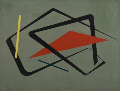 María Freire (Uruguayan, 1917–2015). Untitled. 1954. Oil on canvas, 36 1/4 × 48 1/16? (92 × 122 cm). The Museum of Modern Art, New York. Promised gift of Patricia Phelps de Cisneros through the Latin American and Caribbean Fund in honor of Gabriel Pérez-Barreiro, 2016