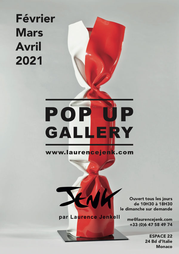 LAURENCE JENK OUVRE SA POP UP GALLERY À MONACO