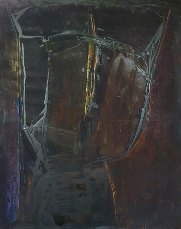 "OLEG GOUDCOFF Triptyque Venitien 2000 162 X 130 cm ""collection privée"" Toulouse"