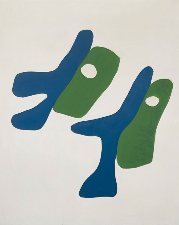 Jean Arp 1886-1966 LES DEUX SOEURS painted wood relief  29 3/4 by 23 7/8 in. 75.6 by 60.7 cm Executed in 1927.