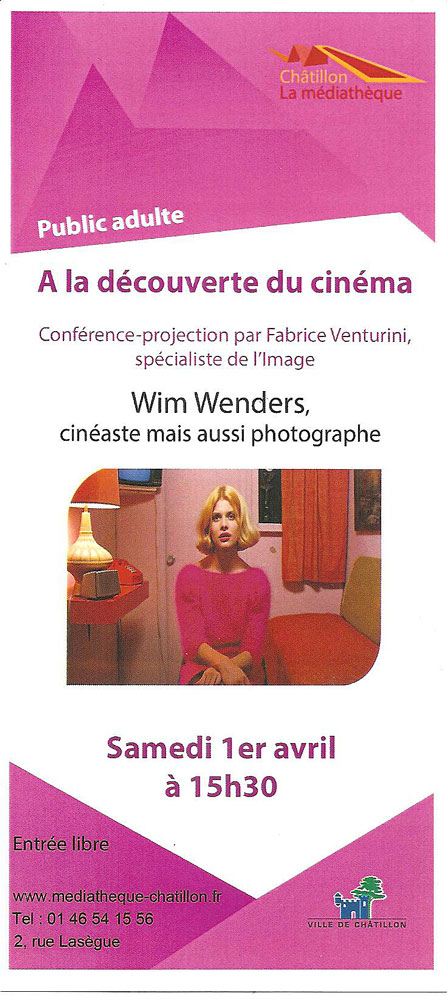 Wim Wenders conférence