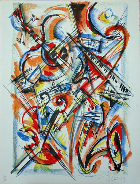 Roger Lersy (1920) Composition Musicale lithographie
