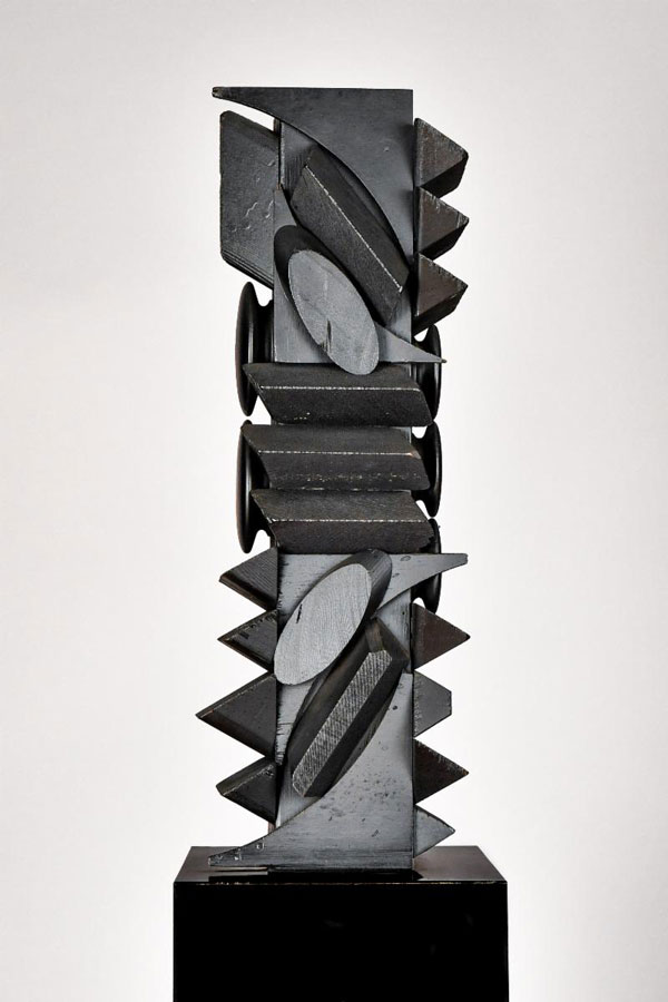 Louise Nevelson, Young Tree XXIV, 1971, wood, paint 19 ¾ H. x 6 ¾ W. x 5 ¾ D. inches; overall height 55 ¾ inches