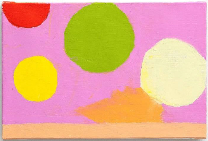 Etel Adnan, Satellites 7, 2020, oil on canvas, 22,5 x 33,5 cm Courtesy Galerie Lelong & Co.