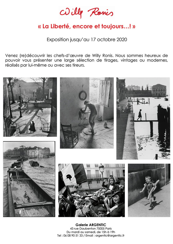 Willy Ronis galerie Argentic