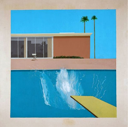 David Hockney, « A Bigger Splash », 1967  Crédit photographique : © David Hockney Collection Tate, London