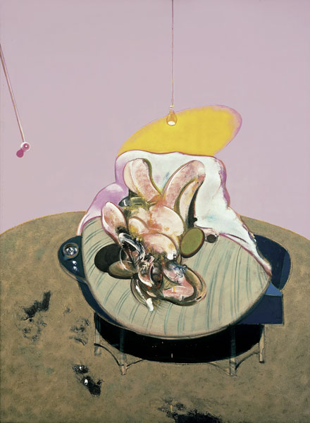 Francis Bacon, Lying Figure, 1969 Huile sur toile 198 x 147.5 cm Fondation Beyeler, Riehen/Basel, Collection Beyeler © The Estate of Francis Bacon. All rights reserved / 2018, ProLitteris, Zurich Photo : Robert Bayer