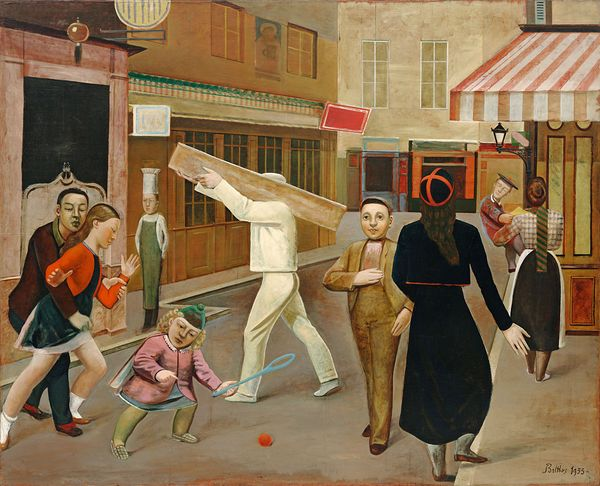 BALTHUS, LA RUE, 1933  Huile sur toile, 195 x 240 cm The Museum of Modern Art, New York, Légué par James Thrall Soby © Balthus Photo: © 2018. Digital image, The Museum of Modern Art, New York/Scala, Florence