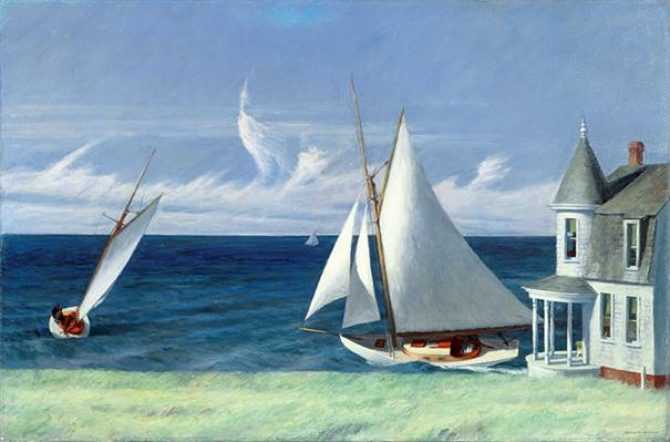 Edward Hopper, The Lee Shore, 1941, huile sur toile, 71,7 x 109,2 cm, The Middleton Family Collection; © Heirs of Josephine Hopper / 2019, ProLitteris, Zurich; Photo: © 2019. Photo Art Resource/Scala, Florence