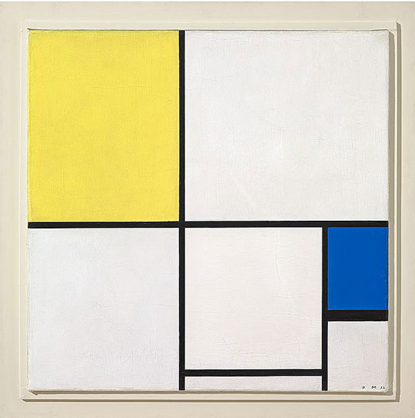 Piet Mondrian Composition with Yellow and Blue, 1932 Öl auf Leinwand 55.5 x 55.5 cm Fondation Beyeler, Riehen/Basel, Sammlung Beyeler;  erworben mit einem Beitrag von Hartmann P.  und Cécile Koechlin-Tanner, Riehen
