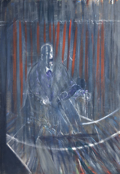 Biographie de Francis Bacon - Francis Bacon 'Étude d'après Vélasquez' ('Study after Velazquez'),1950 Huile sur toile 198 x 137 cm Collection particulière © The Estate of Francis Bacon. Tous droits réservés DACS/VEGAP, Bilbao, 2016 Photo : Prudence Cuming Associates Ltd.
