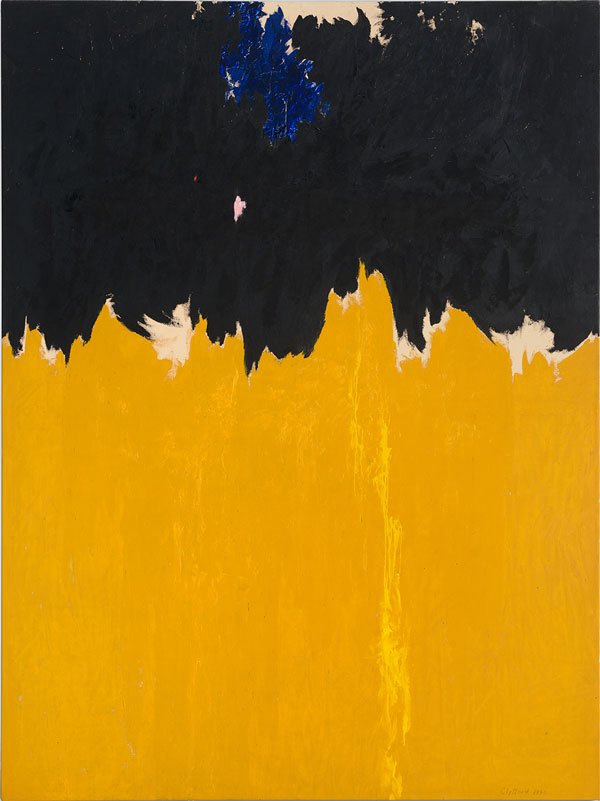Clyfford Still PH-950, 1950 Huile sur toile 233,7 x 177,8 cm Courtoisie Clyfford Still Museum, Denver, Colorado © City and County of Denver, VEGAP, Bilbao, 2016