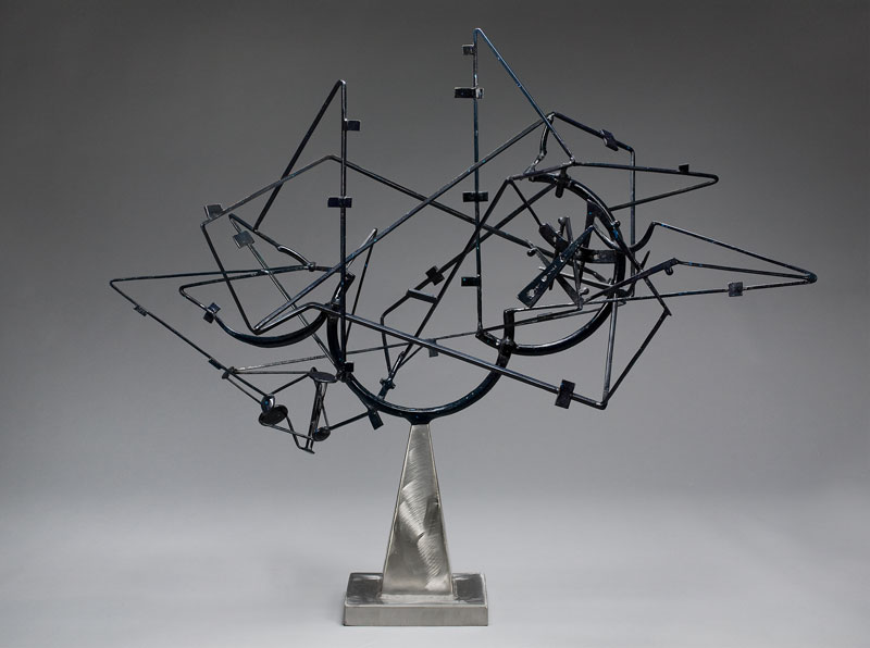 David Smith Cage d'étoiles (StarCage), 1950 Acier peint et brossé 114 x 130,2 x 65,4 cm Frederick R. Weisman Art Museum, Université du Minnesota, Minneapolis. The John Rood Sculpture Collection © The Estate of David Smith, VAGA, New York / VEGAP, Bilbao, 2016