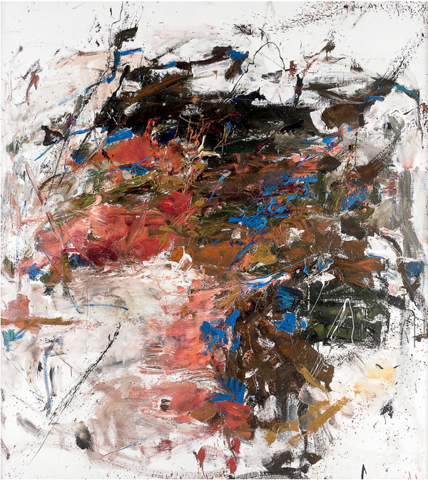 Joan Mitchell Mandres, 1961–62 Huile sur toile 222 x 200,7 cm   Collection particulière, courtoisie McClain Gallery   © Estate of Joan Mitchell