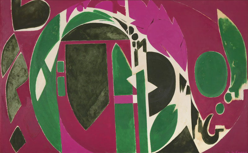 Lee Krasner Palingenesis, 1971 Oil on canvas 208.3 × 340.4 cm Pollock-Krasner Foundation, New York © The Pollock-Krasner Foundation Courtesy Kasmin Gallery, New York