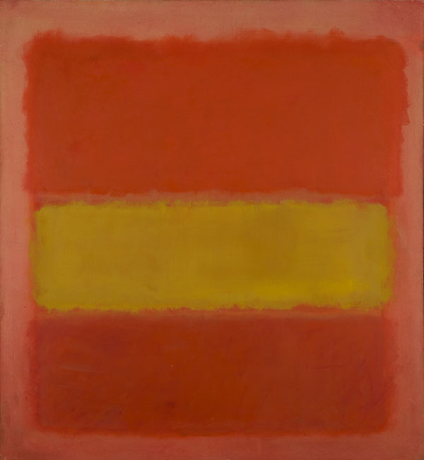Mark Rothko Bande jaune (YellowBand), 1956 Huile sur toile 218,8 x 201,9 cm Sheldon Museum of Art, Université du Nebraska – Lincoln. Sheldon Art Association, Thomas C. Woods Memorial, N-130.1961 © 1998 Kate Rothko Prizel and Christopher Rothko/VEGAP, Bilbao, 2016 Photo : © Sheldon Museum of Art