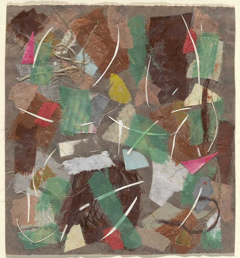 Anne Ryan (American, 1889–1954). Collage, 353. 1949.  Pasted colored papers, cloth, and string on paper, 7 1/2 x 6 7/8? (19 x 17.5 cm).  The Museum of Modern Art, New York. Gift of Elizabeth McFadden, 197