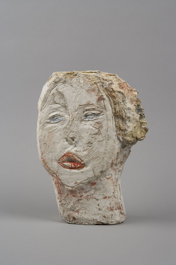 Alberto Giacometti Head of Woman [Flora Mayo] 1926 Painted plaster 31.2 x 23.2 x 8.4 cm Collection Fondation Alberto et Annette Giacometti, Paris © Alberto Giacometti Estate, ACS/DACS, 2017