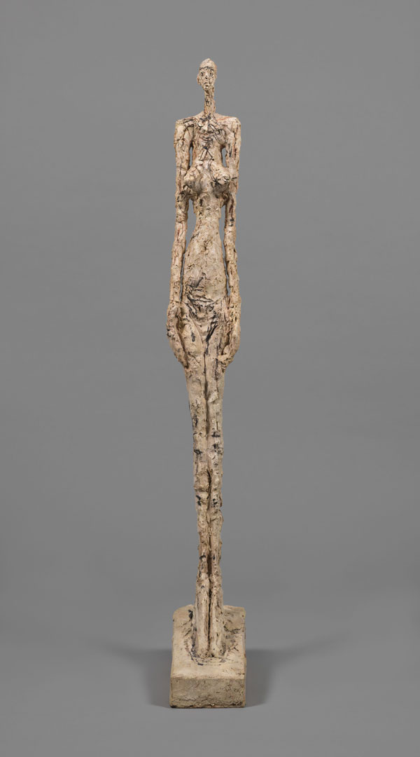 Alberto Giacometti Woman of Venice V 1956 Painted plaster 113.5 x 14.5 x 31.8 cm Collection Fondation Alberto et Annette Giacometti, Paris © Alberto Giacometti Estate, ACS/DACS, 2017